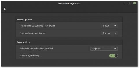 My Power Management setup right now at the moment of making this post.