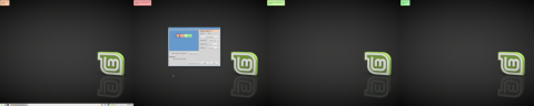 Desktop screenshot spanning all monitors: Nvidia and Intel