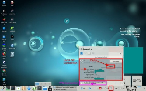 KDE Network Manager<br />- To view local area network IP Addresses (Lan IP)