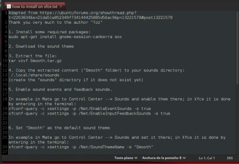 Smooth/documentation/how to install on xfce.txt no es usual y extraordinariamente detallado